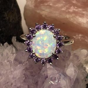 🔮Opal and Amethyst Ring